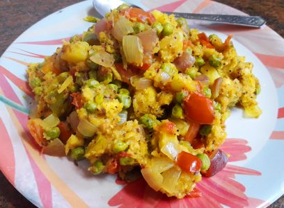 bread upma or bread pulao
