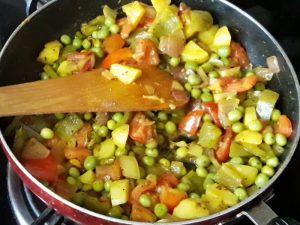 all vegetables in bread upma