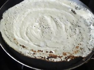 edges of dosa are brown and lose it