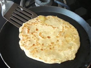 cook paratha from both sides