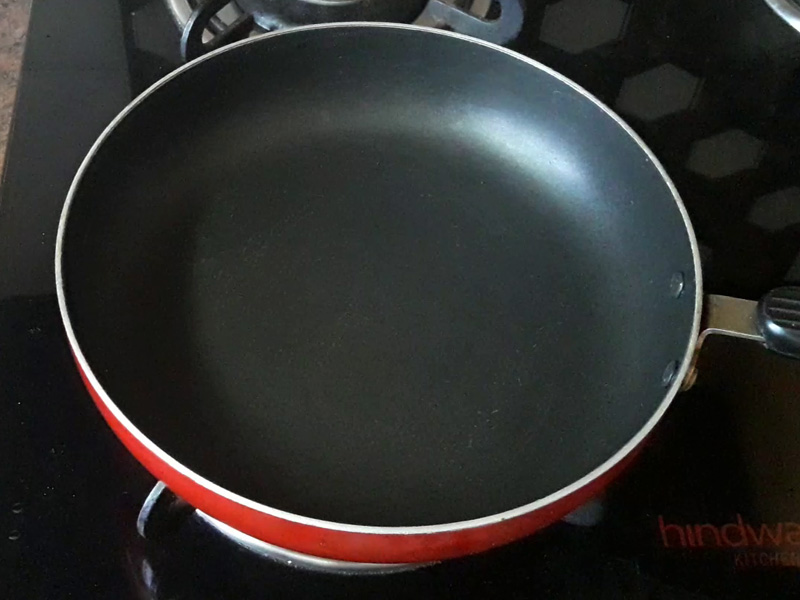 pan on gas stove