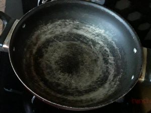 heat pan for making stuffing for samosa